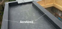 acrotere toiture plate
