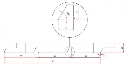 Bardage Douglas 28x62mm profil façon claire voie Clairevoie 21x145mm ...