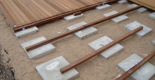 Pose Lambourde Terrasse Plot Beton