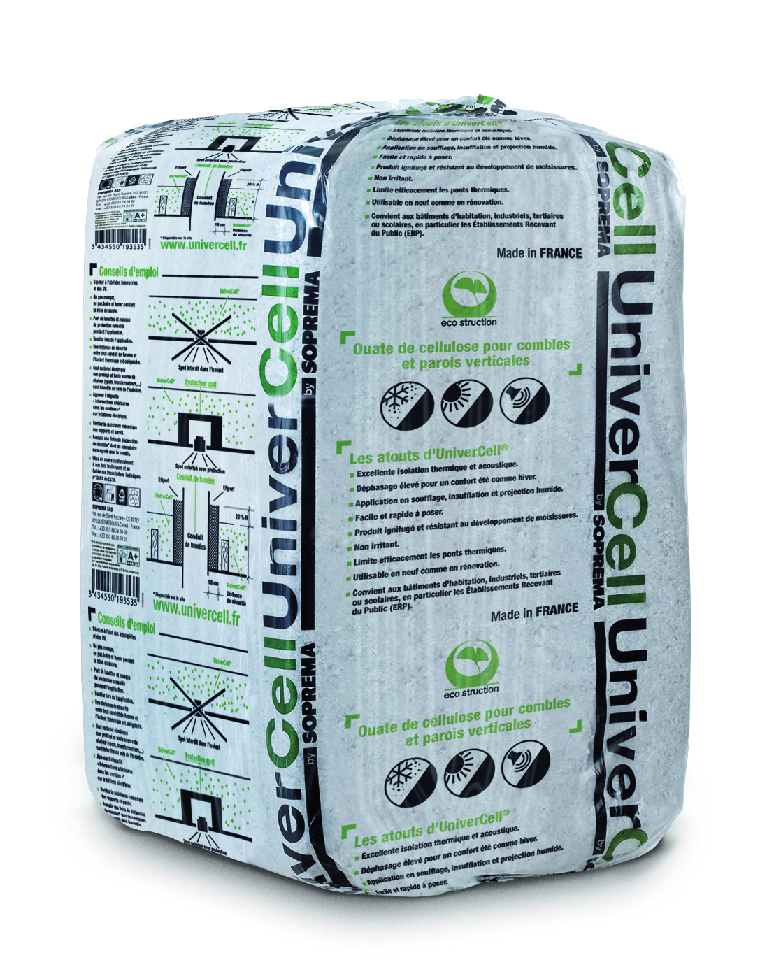 Ouate cellulose Univercell 12.5kg