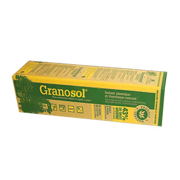 Granosol isolant mince fibre de bois pour le sol for Isolation phonique sol carrelage