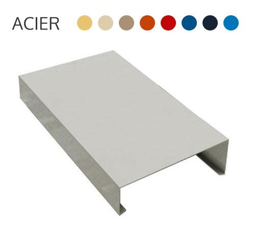 couvre mur alu couvre mur en pierre bleue sans goutte dueau with couvre mur alu embout en alu. Black Bedroom Furniture Sets. Home Design Ideas