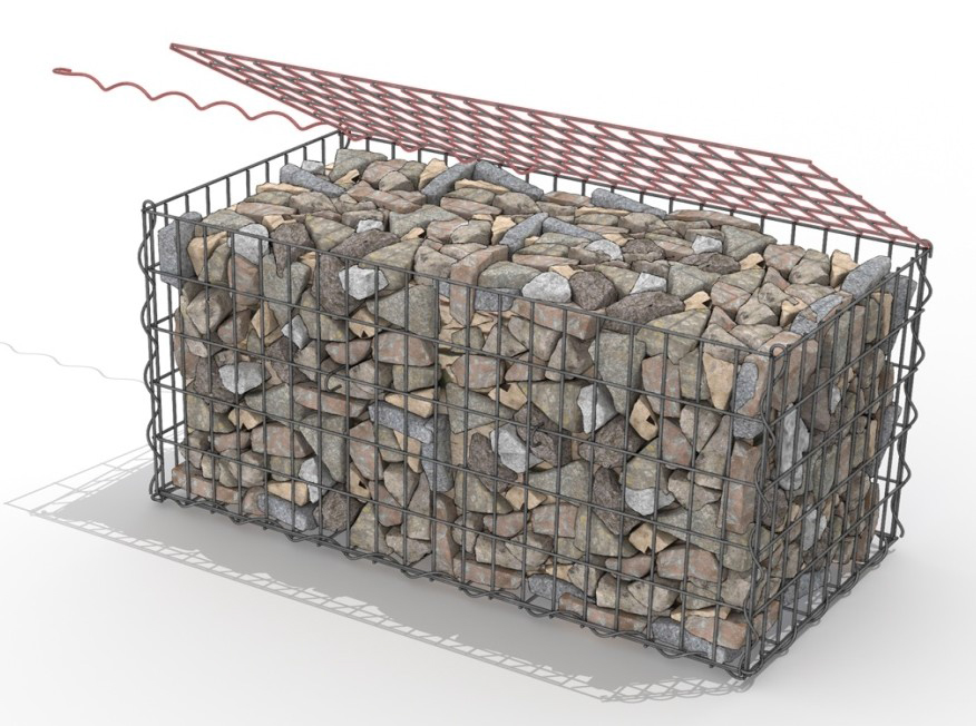 gabion ou cage m tallique galvanis e acheter au. Black Bedroom Furniture Sets. Home Design Ideas