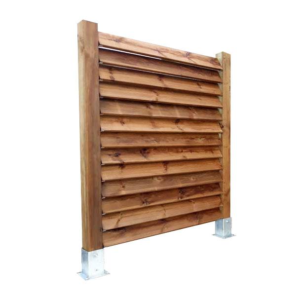 Panneau claustra brise vue persienne en bois - Acheter au meilleur prix