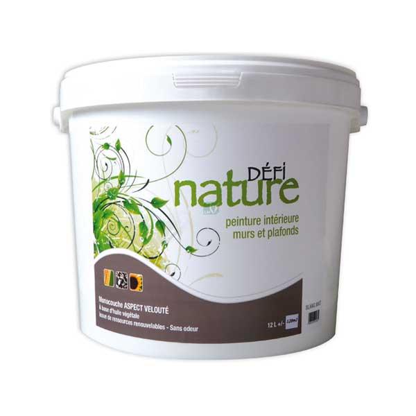 peinture naturelle blanche defi nature acheter au meilleur prix. Black Bedroom Furniture Sets. Home Design Ideas