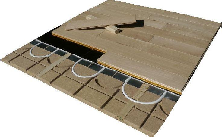 plancher chauffant mince caleosol en fibre de bois 40mm avec lambourde et per acheter au. Black Bedroom Furniture Sets. Home Design Ideas