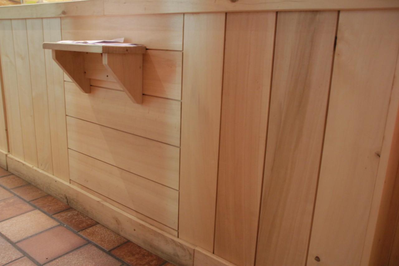 lambris en bois de peuplier ab 10x100mm grain d 39 orge acheter au meilleur prix. Black Bedroom Furniture Sets. Home Design Ideas