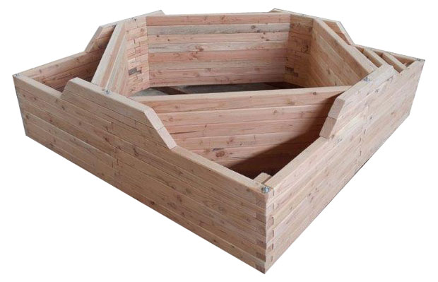 Jardin potager hors sol en bois jardiois acheter au for Bassin de jardin hors sol en kit