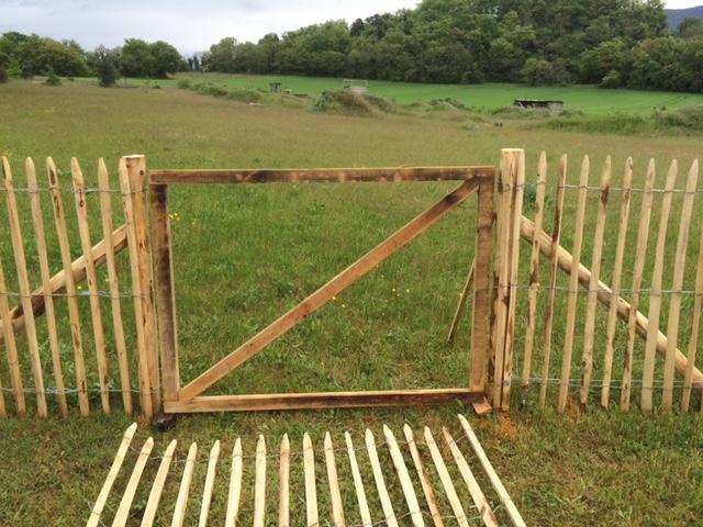 Portillon en bois acheter au meilleur prix for Portillon de jardin en bois