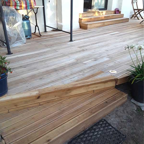 Terrasse en robinier ou faux acacia  Acheter au meilleur prix