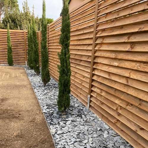 Nice ... Terrasse Bois Palissade Bois Claustra Pour Ext Rieur ...