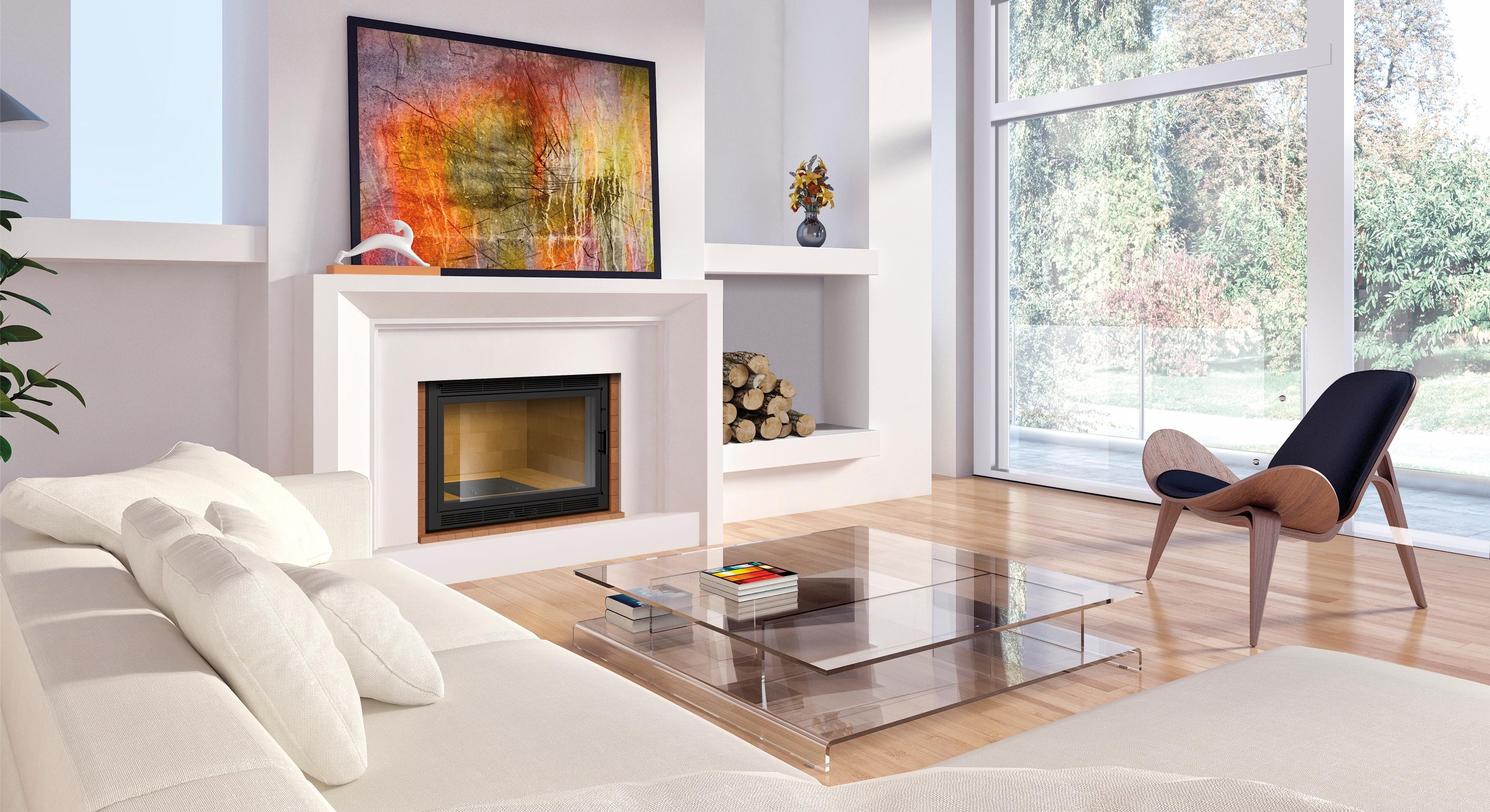 insert de chemin e sur mesure 800 l x600 h x500 p 1 vitre 14kw acheter au meilleur prix. Black Bedroom Furniture Sets. Home Design Ideas