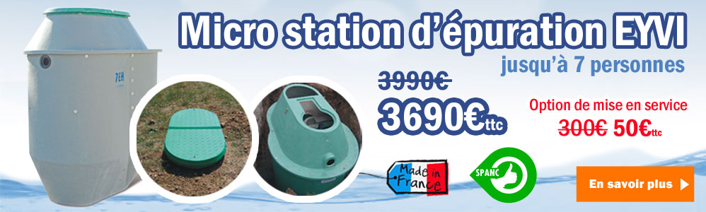 Micro Station Epuration Autonome individuelle 7 EH
